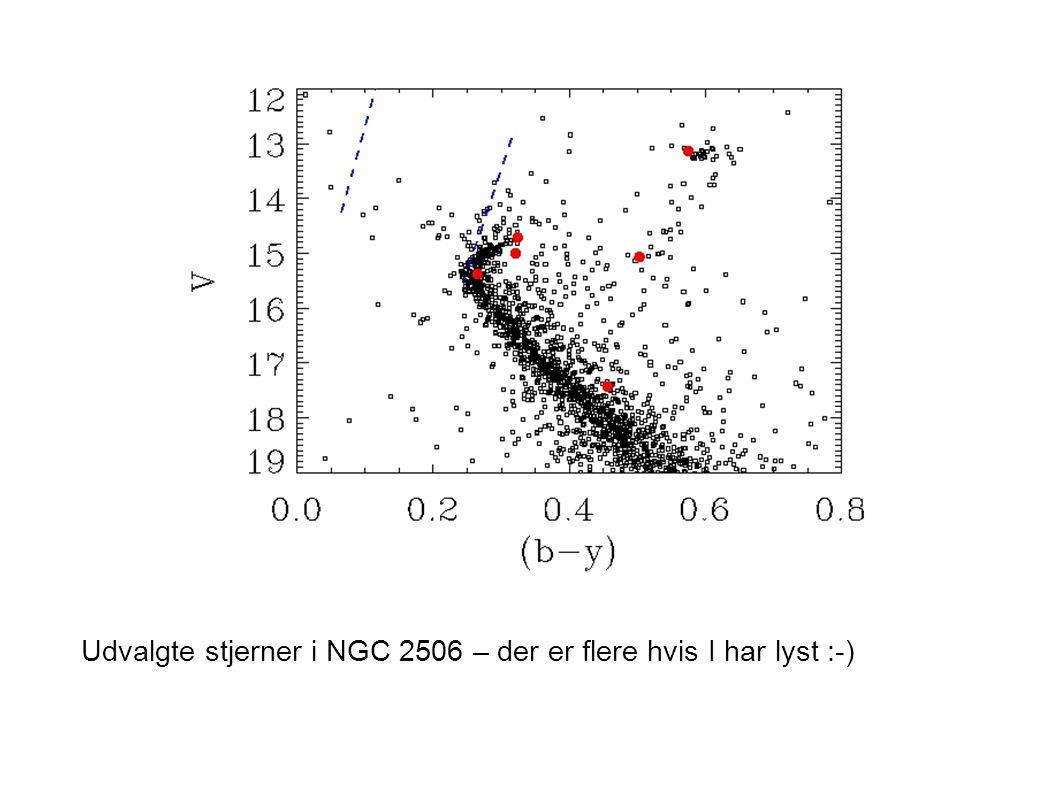 Udvalgte stjerner i NGC 2506 – der er flere hvis I har lyst :-)
