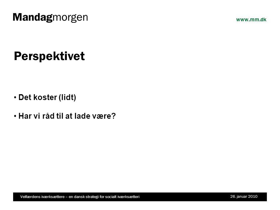 Velfærdens iværksættere – en dansk strategi for socialt iværksætteri 26.