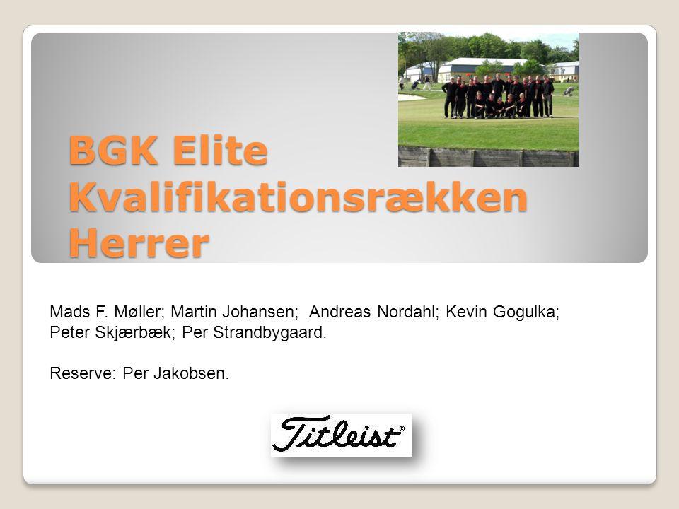 BGK Elite Kvalifikationsrækken Herrer Mads F.