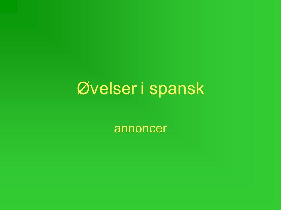 Øvelser i spansk annoncer