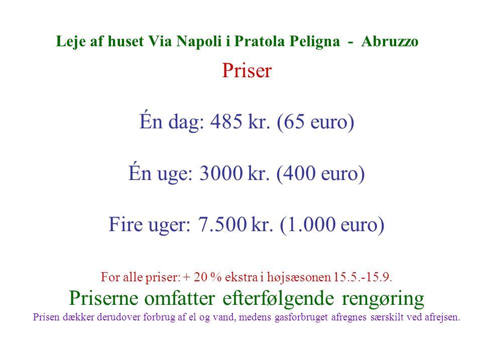 Leje af huset Via Napoli i Pratola Peligna - Abruzzo Priser Én dag: 485 kr.