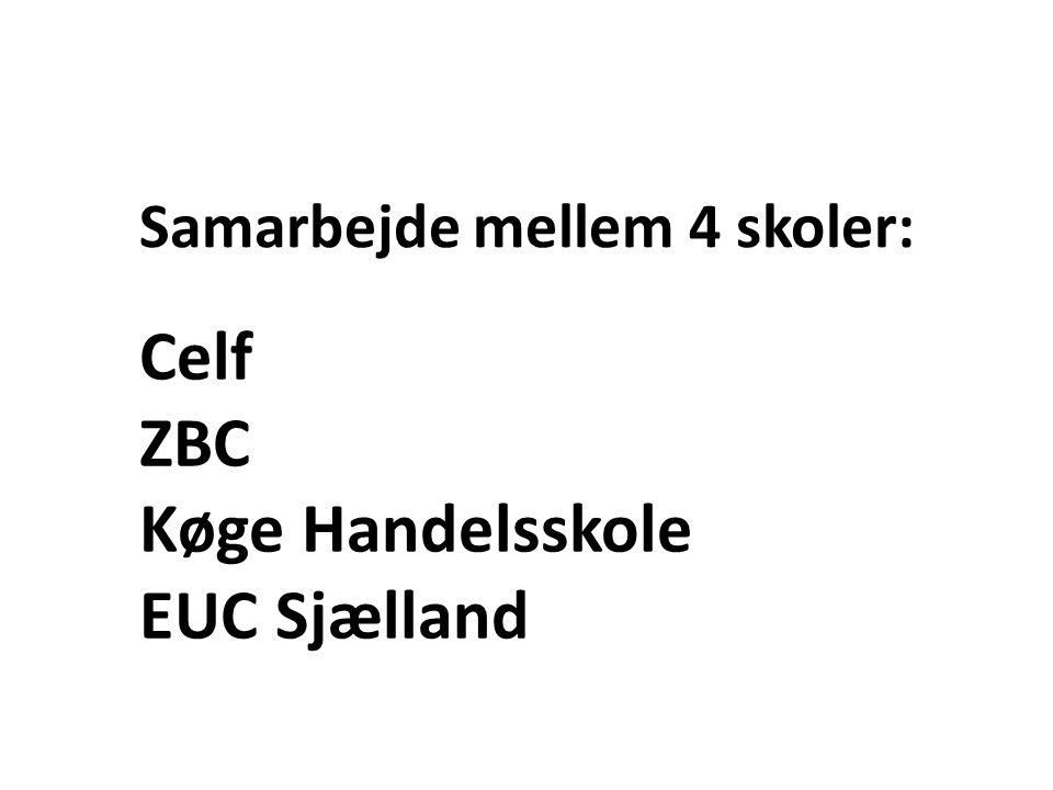 Samarbejde mellem 4 skoler: Celf ZBC Køge Handelsskole EUC Sjælland