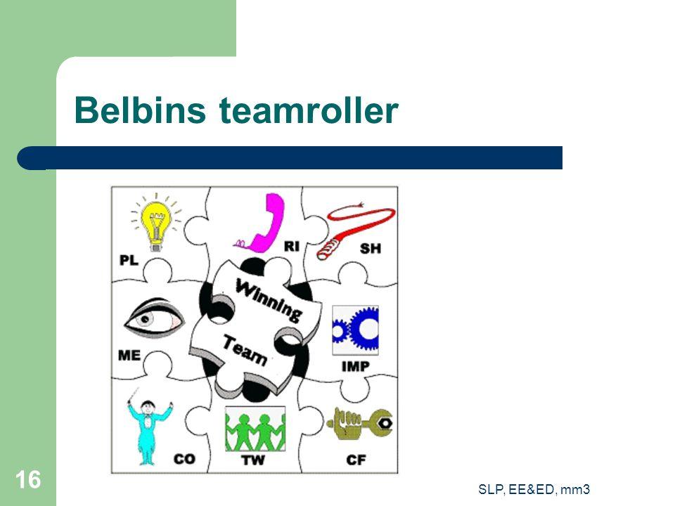 SLP, EE&ED, mm3 16 Belbins teamroller