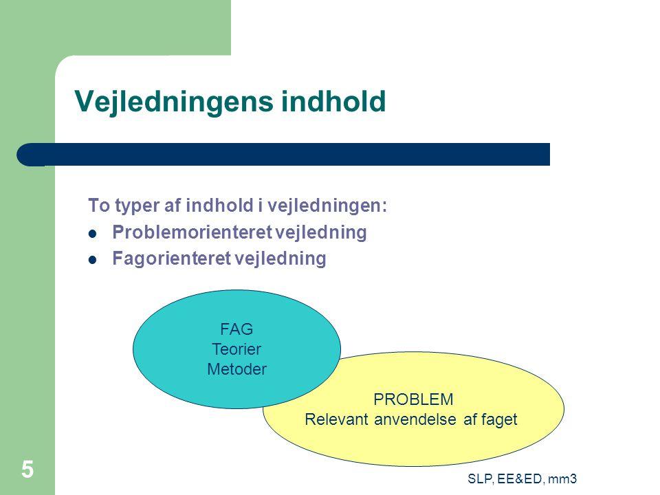 SLP, EE&ED, mm3 26 Individuel og kollektiv læring http://www.doingworks.com/images/Chair2.jpg