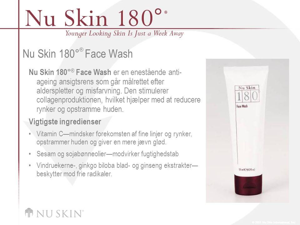 © 2001 Nu Skin International, Inc Nu Skin 180 ° ® Face Wash Nu Skin 180° ® Face Wash er en enestående anti- ageing ansigtsrens som går målrettet efter alderspletter og misfarvning.