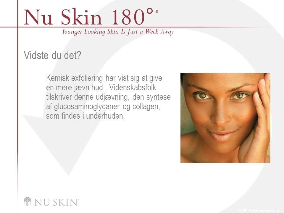 © 2001 Nu Skin International, Inc Vidste du det.