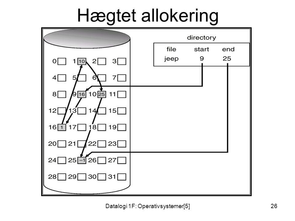 Datalogi 1F: Operativsystemer[5]26 Hægtet allokering