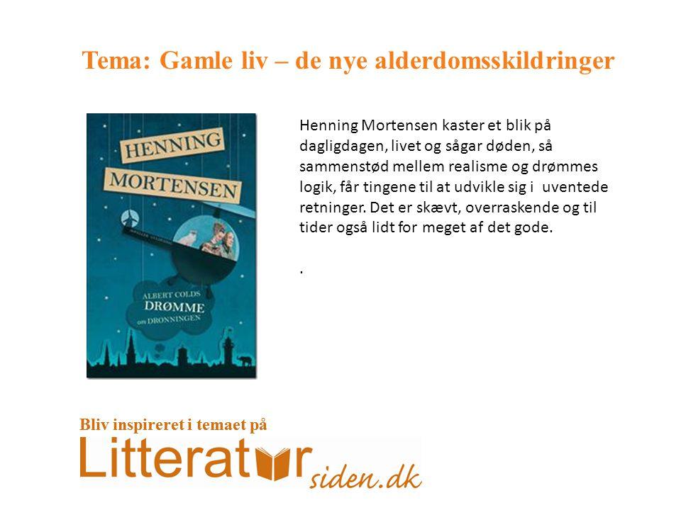 Tema: Gamle liv – de nye alderdomsskildringer Henning Mortensen kaster et blik på dagligdagen, livet og sågar døden, så sammenstød mellem realisme og drømmes logik, får tingene til at udvikle sig i uventede retninger.