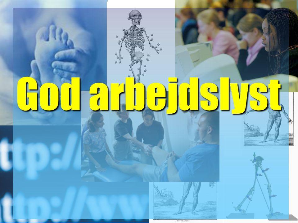 fysioterapeutuddannelsen Copyright Lars Henrik Larsen 2007 God arbejdslyst
