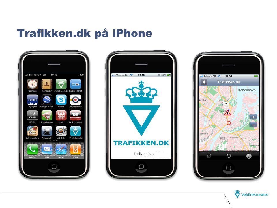Løsningen  En applikation der følger bilistens position og læser alle trafikmeldinger i nærheden op.