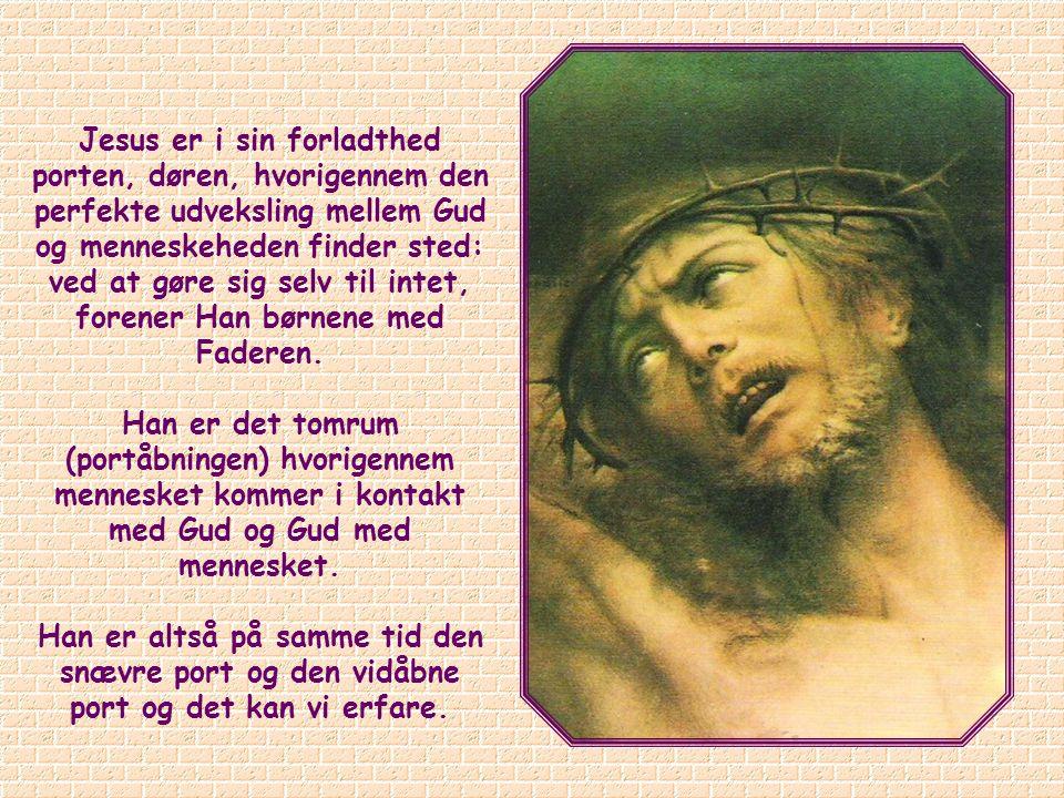 Hvornår bliver Jesus den dør der står på vid gab, den helt åbne dør ind til Treenigheden.