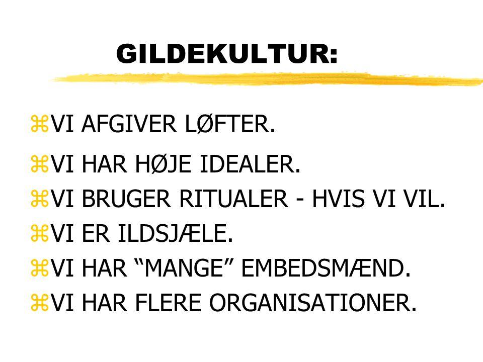 GILDEKULTUR: zVI AFGIVER LØFTER. zVI HAR HØJE IDEALER.