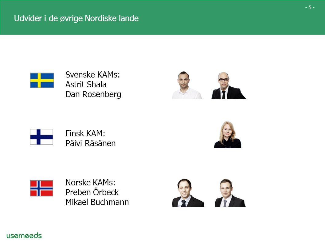 - 5 - Udvider i de øvrige Nordiske lande Svenske KAMs: Astrit Shala Dan Rosenberg Finsk KAM: Päivi Räsänen Norske KAMs: Preben Örbeck Mikael Buchmann