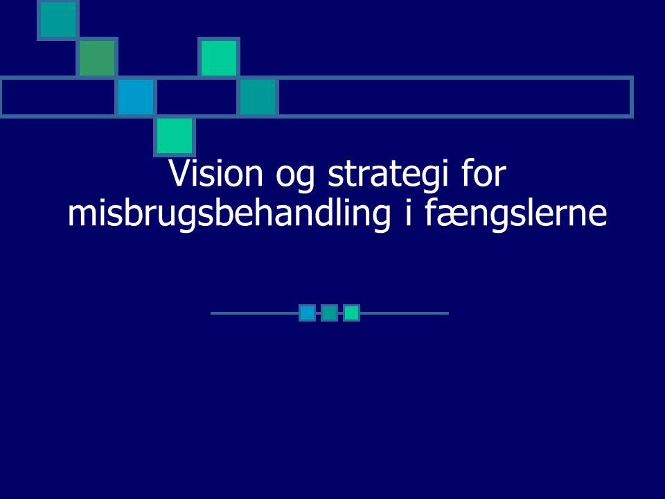 Vision og strategi for misbrugsbehandling i fængslerne