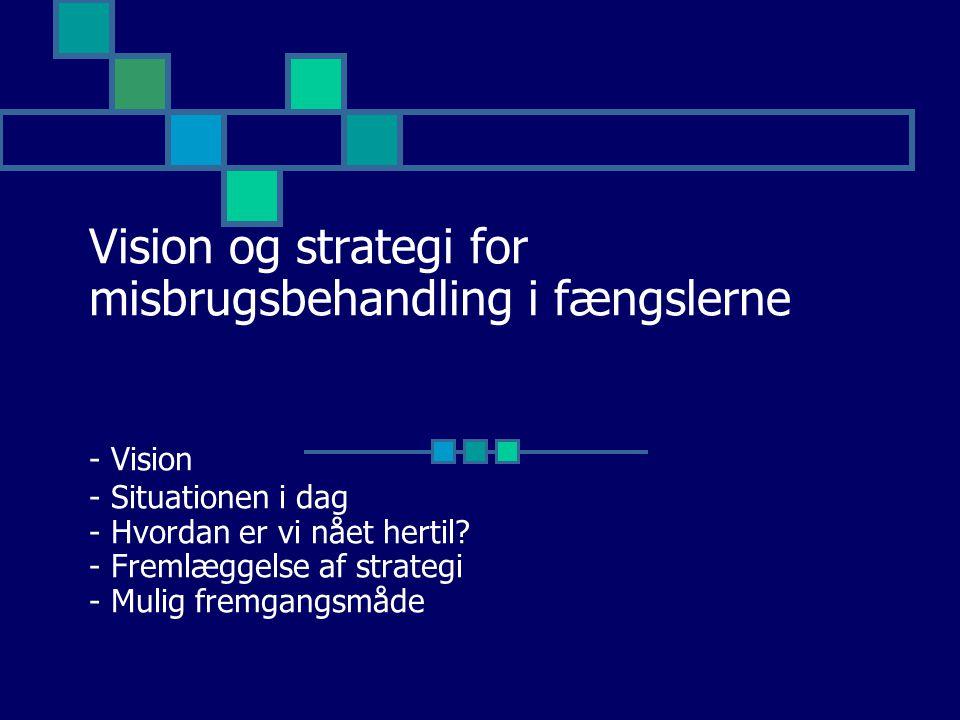 Vision og strategi for misbrugsbehandling i fængslerne - Vision - Situationen i dag - Hvordan er vi nået hertil.