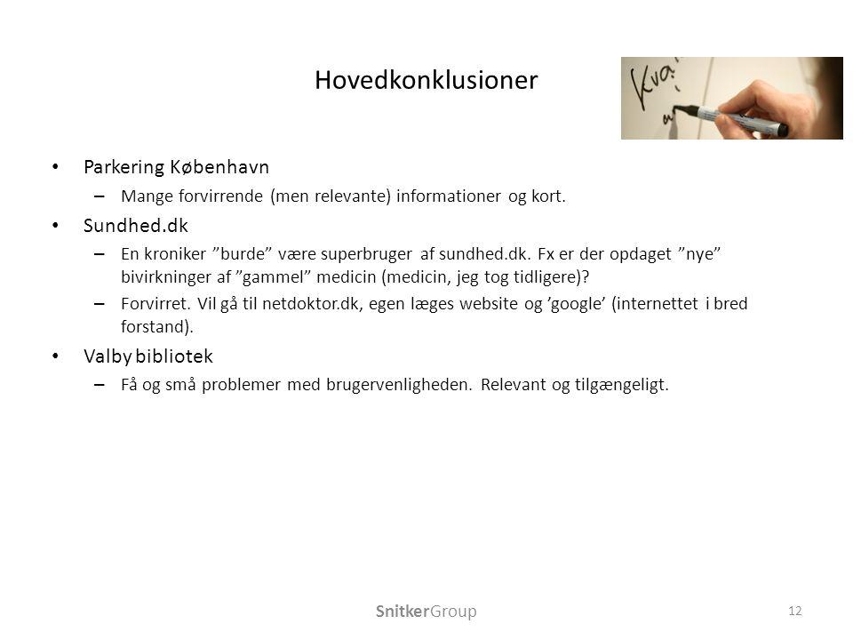 Hovedkonklusioner Parkering København – Mange forvirrende (men relevante) informationer og kort.