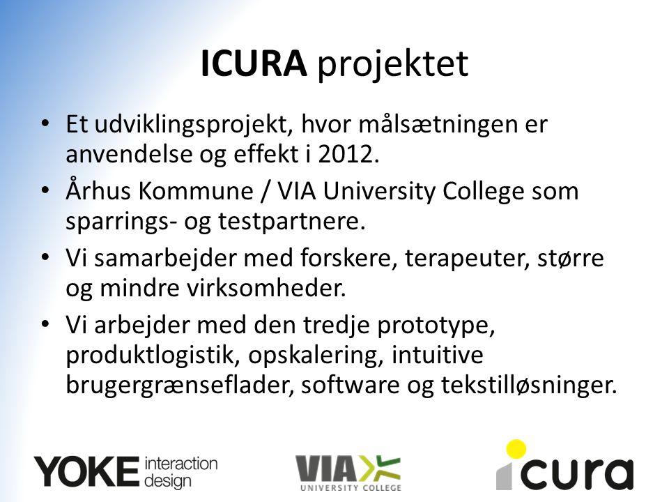ICURA projektet Et udviklingsprojekt, hvor målsætningen er anvendelse og effekt i 2012.