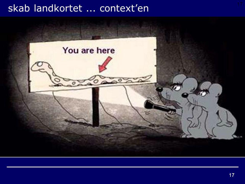 17 skab landkortet... context'en