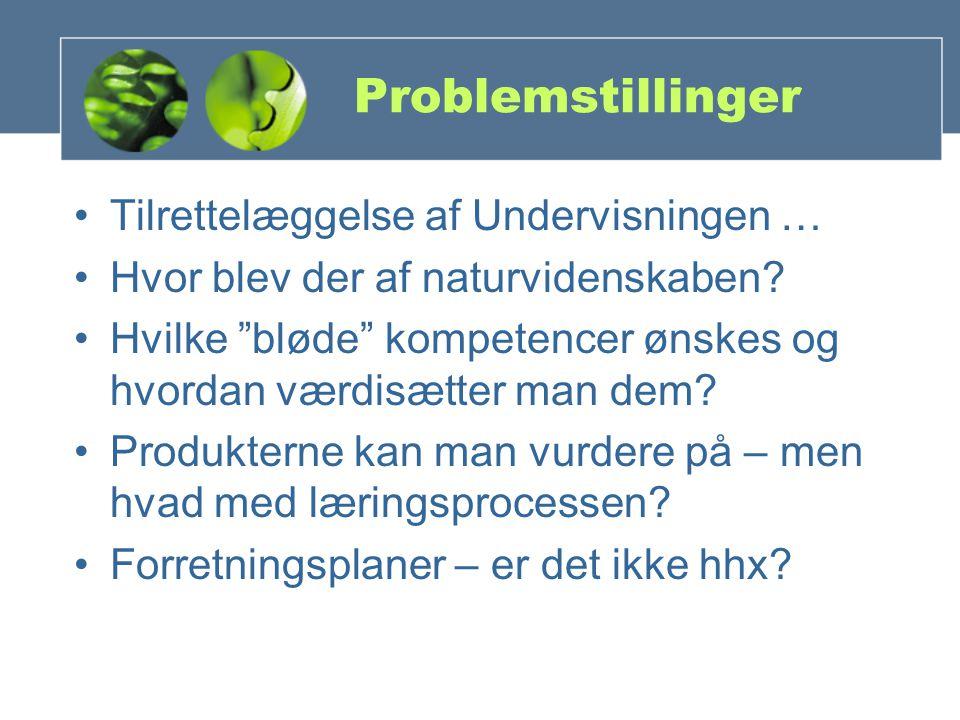 Problemstillinger Tilrettelæggelse af Undervisningen … Hvor blev der af naturvidenskaben.