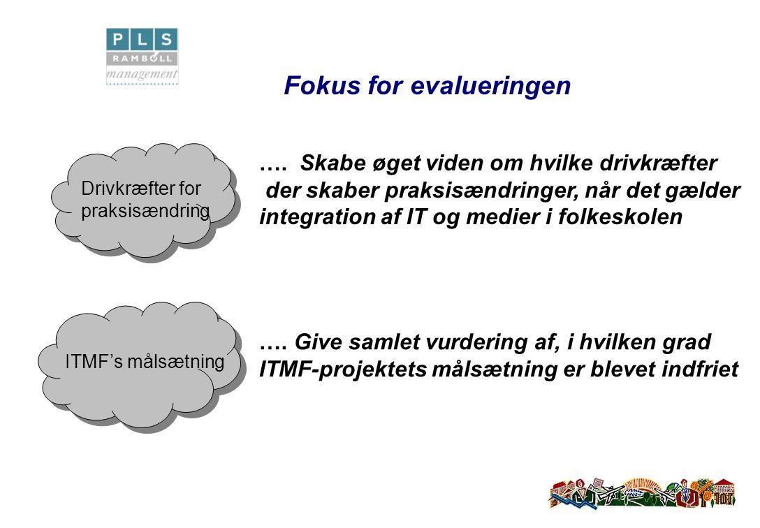 Fokus for evalueringen ….