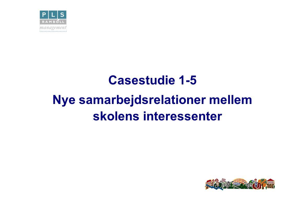 Casestudie 1-5 Nye samarbejdsrelationer mellem skolens interessenter