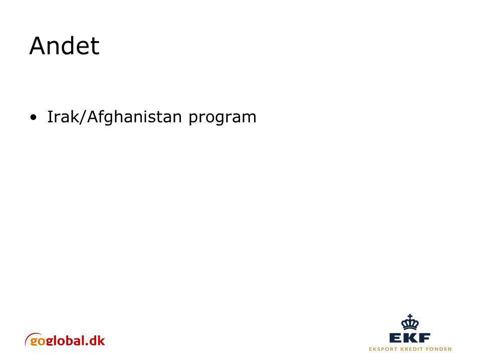 Andet Irak/Afghanistan program