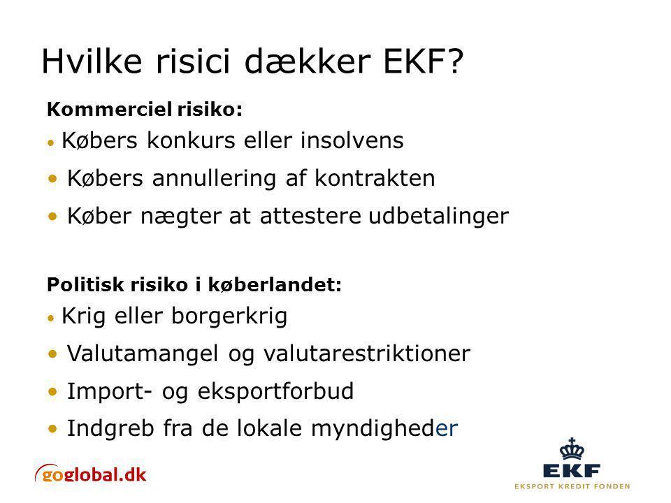 Hvilke risici dækker EKF.