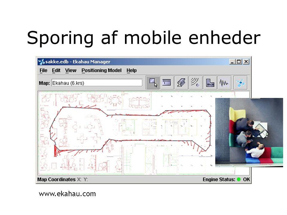 Sporing af mobile enheder www.ekahau.com