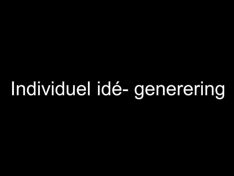 Individuel idé- generering