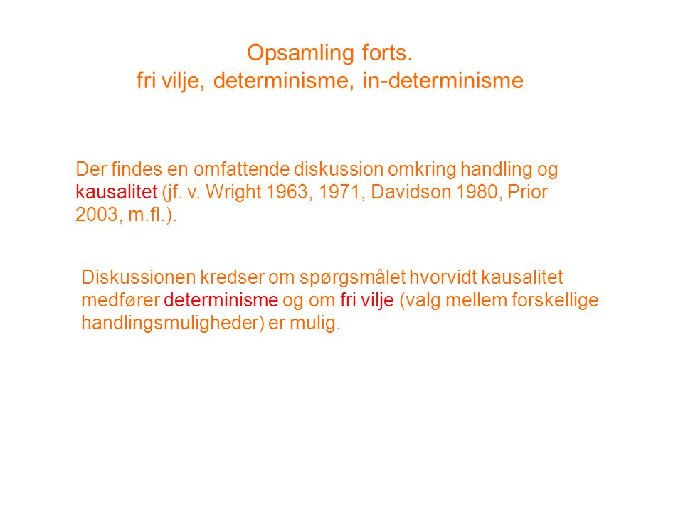 Opsamling forts.