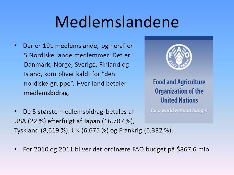 Medlemslandene Der er 191 medlemslande, og heraf er 5 Nordiske lande medlemmer.
