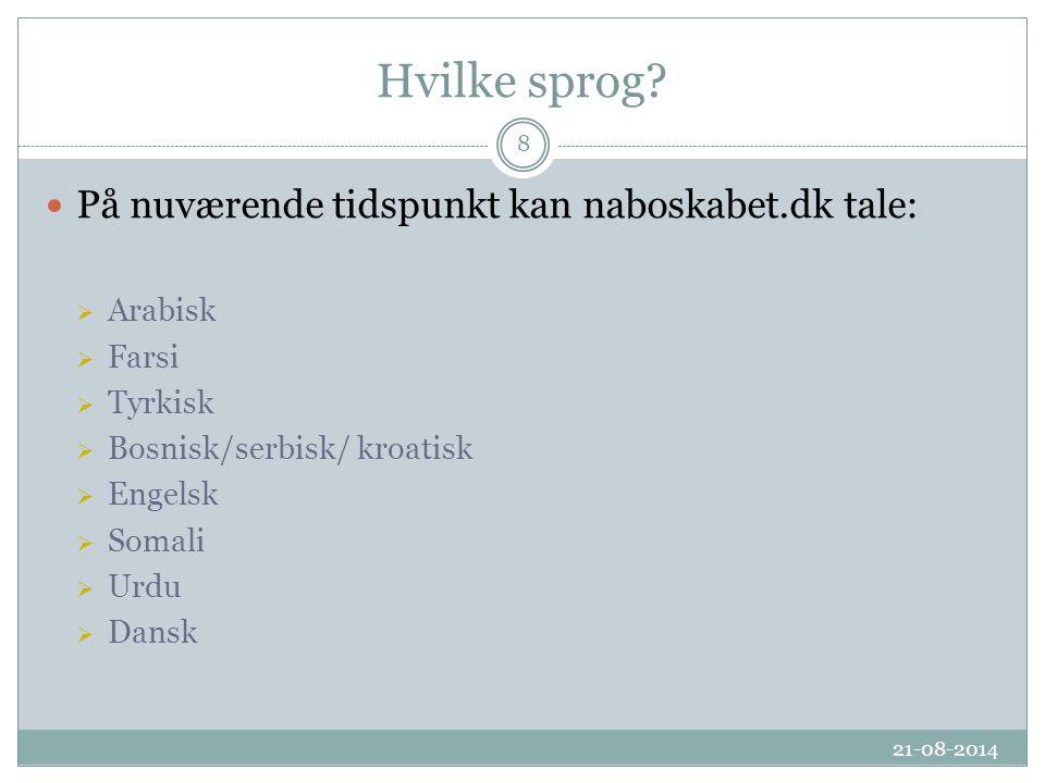 Hvilke sprog.