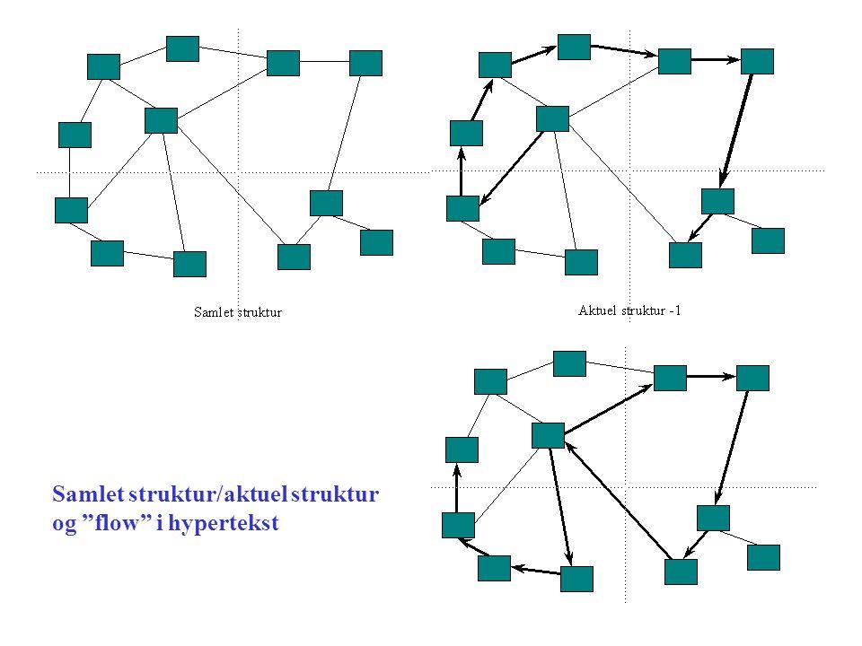 Samlet struktur/aktuel struktur og flow i hypertekst