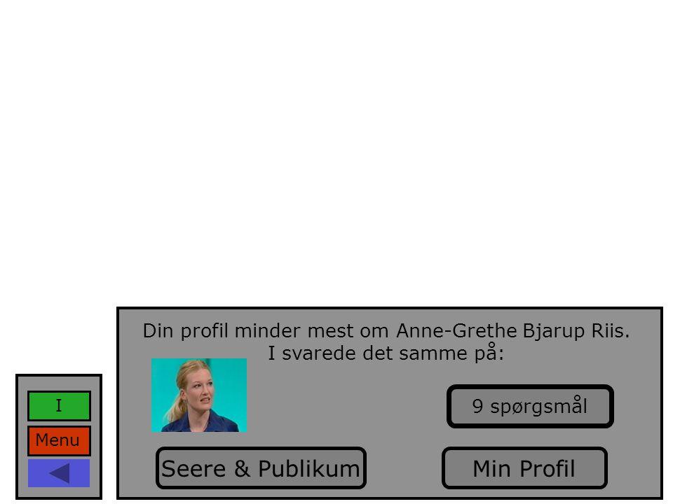 Din profil minder mest om Anne-Grethe Bjarup Riis.