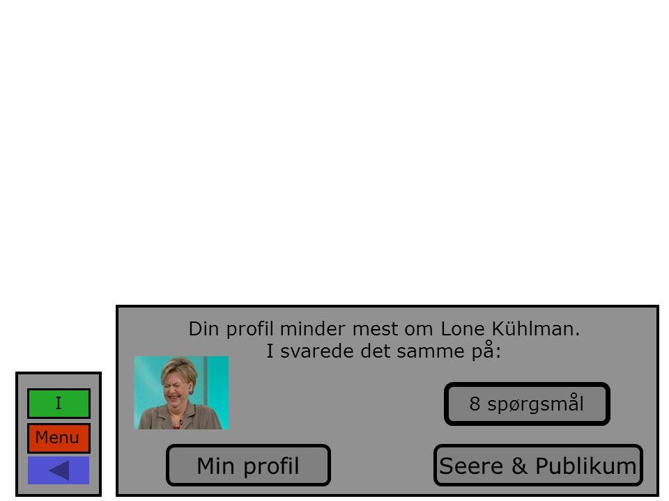 Din profil minder mest om Lone Kühlman.