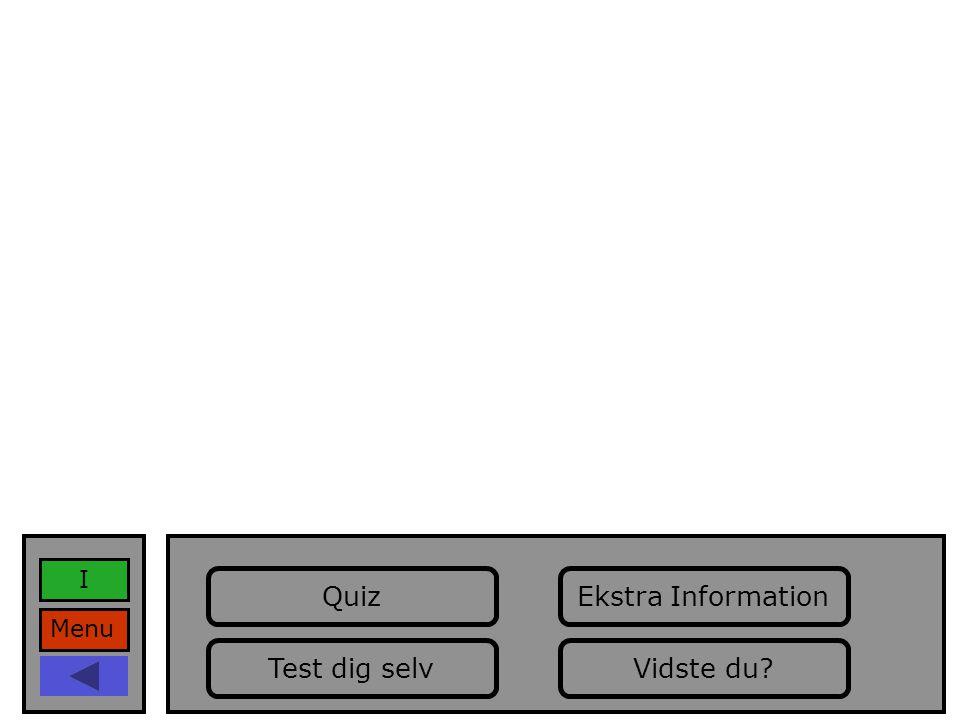 Menu I Vidste du Ekstra Information Test dig selv Quiz