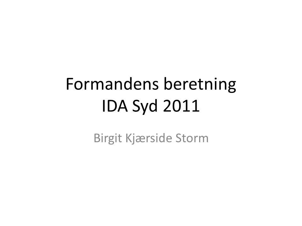 Formandens beretning IDA Syd 2011 Birgit Kjærside Storm