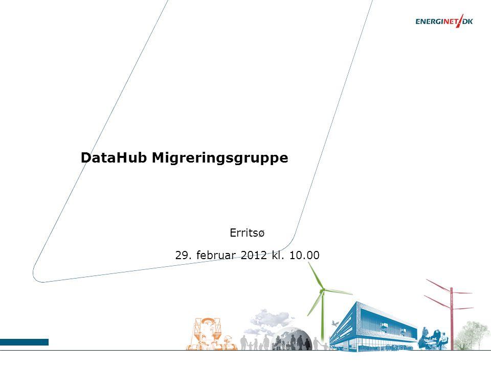 DataHub Migreringsgruppe Erritsø 29. februar 2012 kl. 10.00