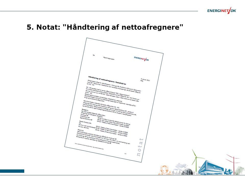 5. Notat: Håndtering af nettoafregnere