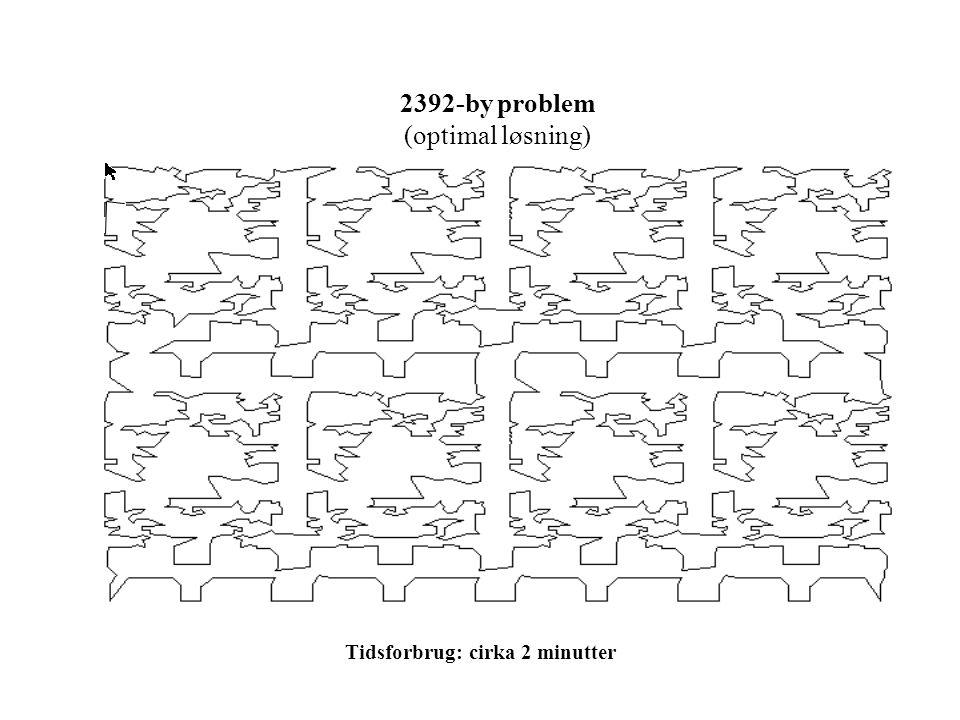 2392-by problem (optimal løsning) Tidsforbrug: cirka 2 minutter