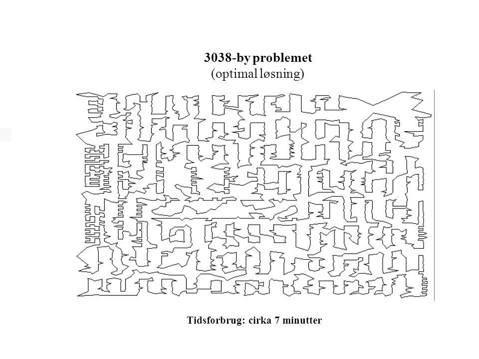 3038-by problemet (optimal løsning) Tidsforbrug: cirka 7 minutter