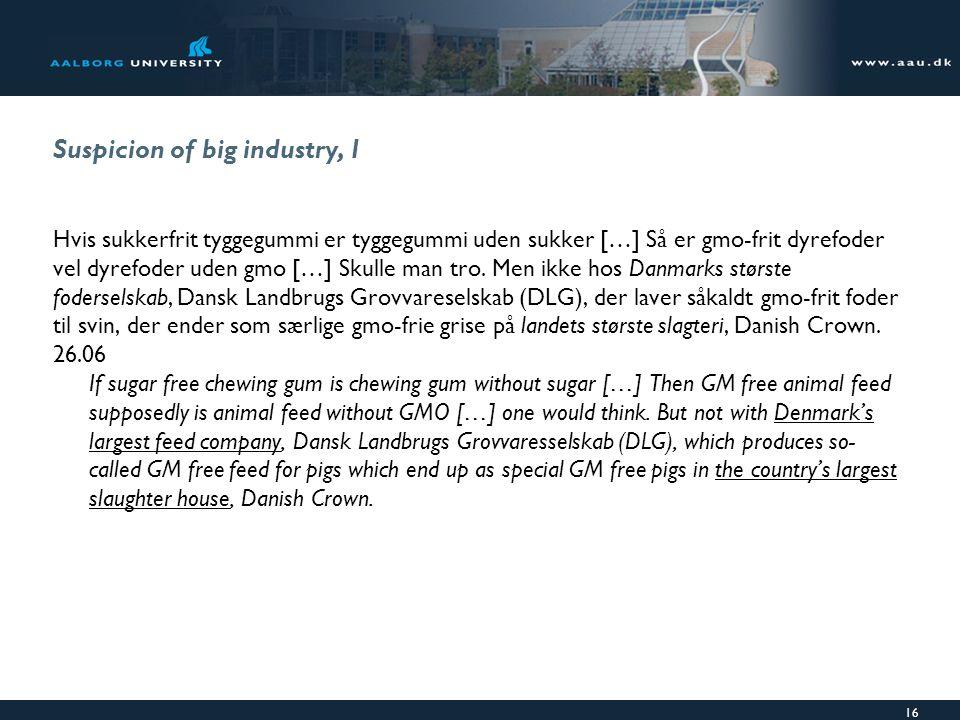 16 Suspicion of big industry, I Hvis sukkerfrit tyggegummi er tyggegummi uden sukker […] Så er gmo-frit dyrefoder vel dyrefoder uden gmo […] Skulle man tro.