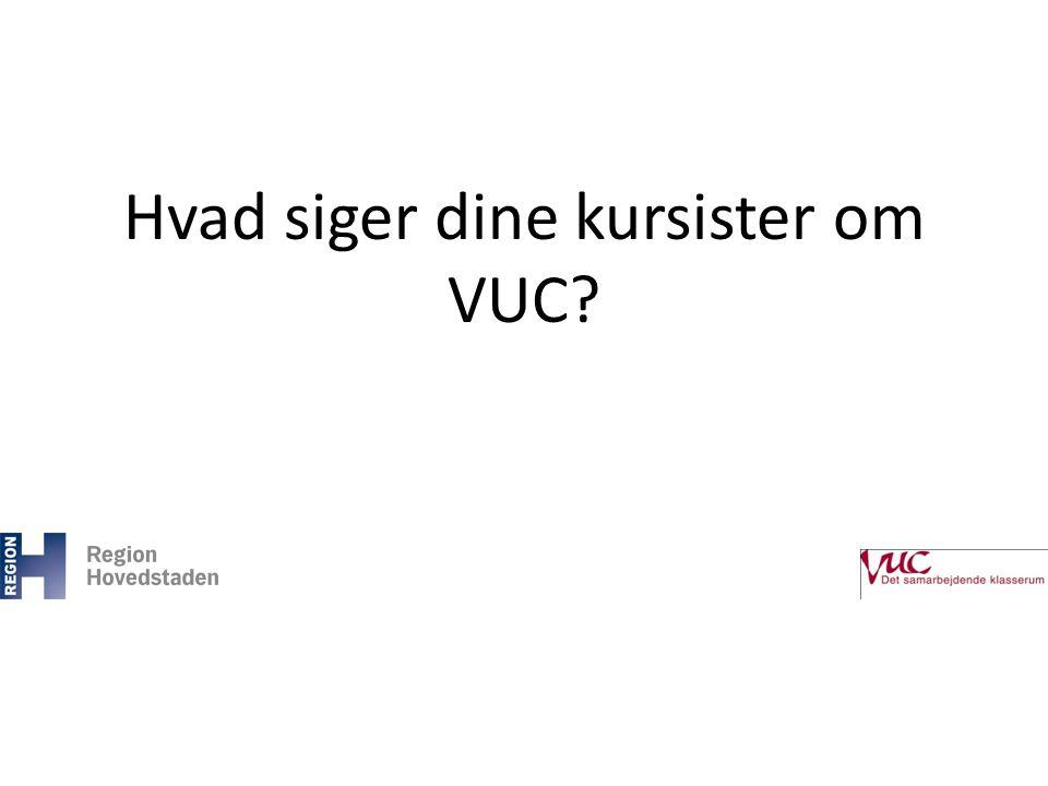 Hvad siger dine kursister om VUC