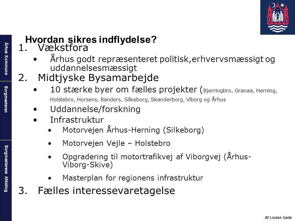 Århus Kommune Borgmesterens Afdeling Borgmesteren Af Louise Gade Hvordan sikres indflydelse.