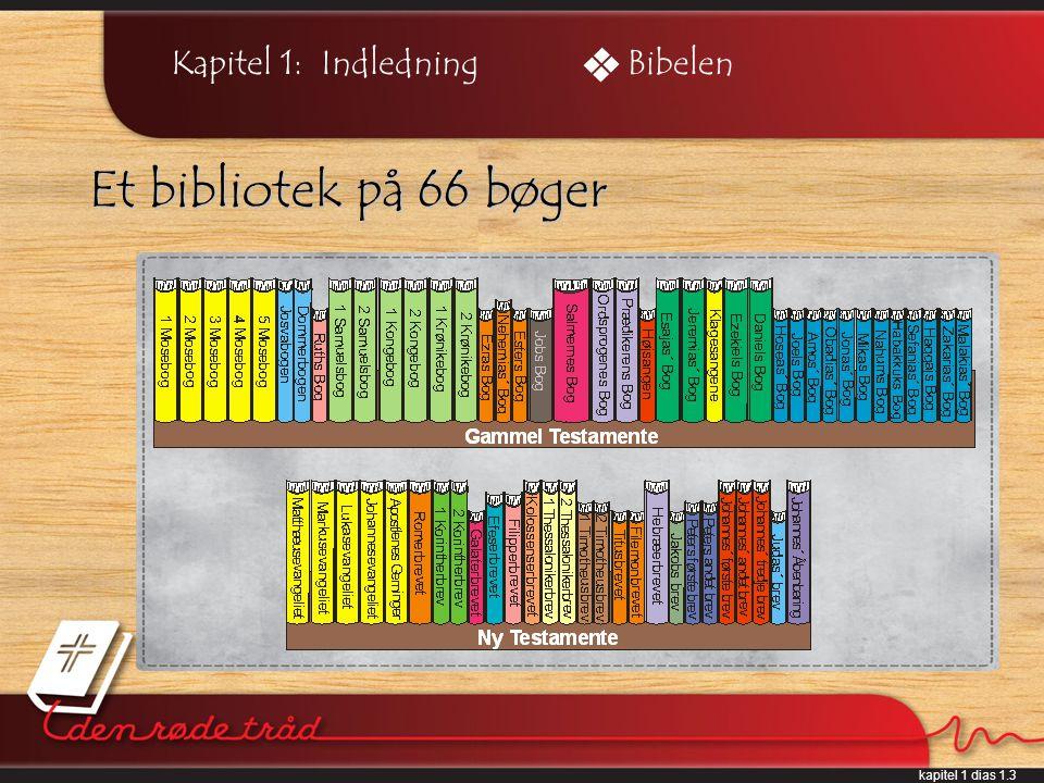 kapitel 1 dias 1.3 Kapitel 1: Indledning Et bibliotek på 66 bøger Bibelen
