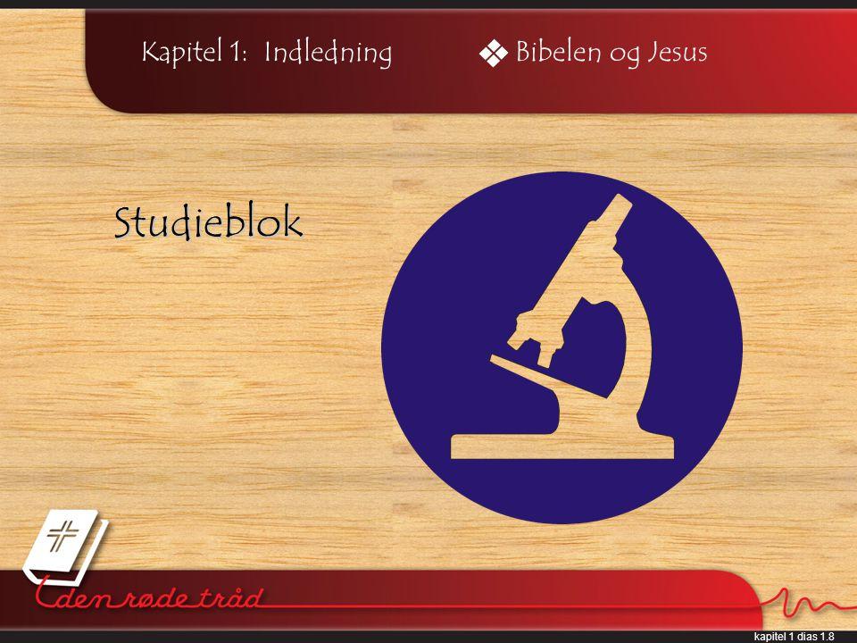 kapitel 1 dias 1.8 Kapitel 1: Indledning Studieblok Bibelen og Jesus