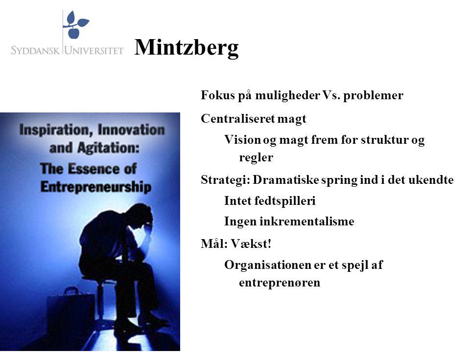 Mintzberg Fokus på muligheder Vs.