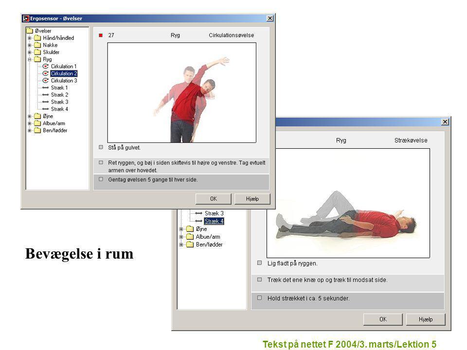 Tekst på nettet F 2004/3. marts/Lektion 5 Bevægelse i rum