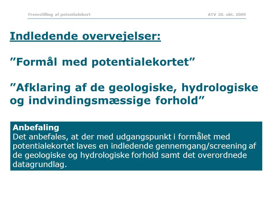 Fremstilling af potentialekort ATV 30. okt.
