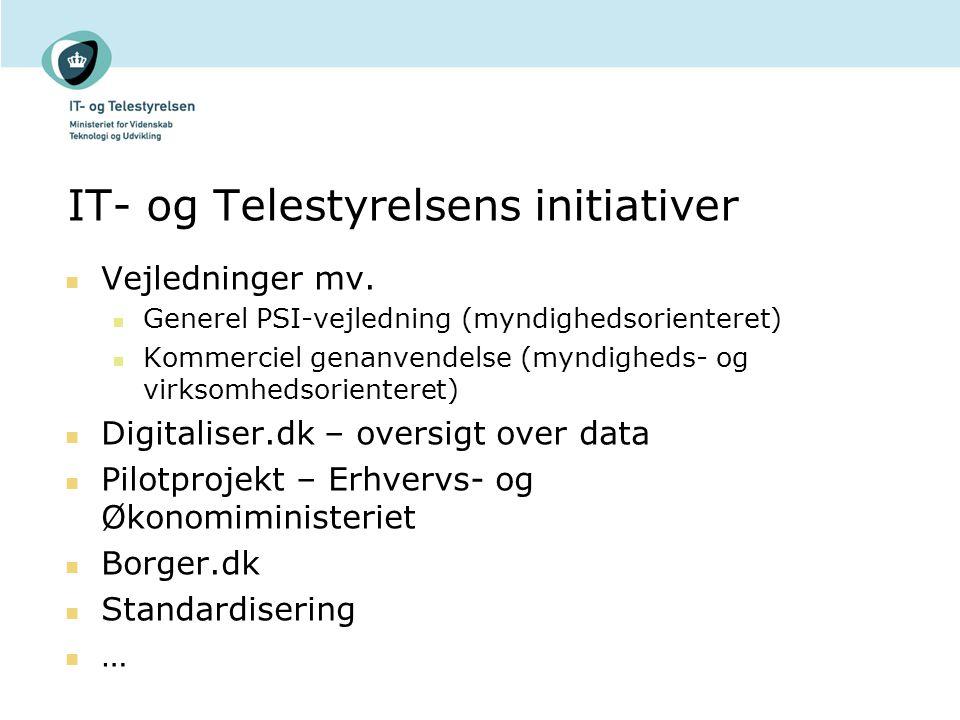 IT- og Telestyrelsens initiativer Vejledninger mv.